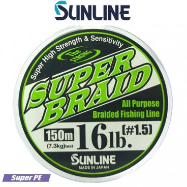 SUPER BRAID PE dark green 150m