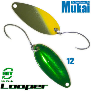 Mukai Looper 1.7 g 28 mm Trout Spoon assorted colors