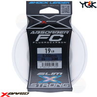 YGK X-BRAID ABSORBER SLIM&STRONG FC 30 M SHOCK LEADER 19 LB