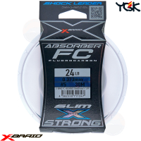 YGK X-BRAID ABSORBER SLIM&STRONG FC 30 M SHOCK LEADER 24 LB
