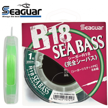 SEAGUAR R18 SEABASS 200 M x8 PE 1.0