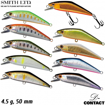 D-3 Custom BALKID 5 g 50 mm Assorted Colors Trout Sinking Minnow