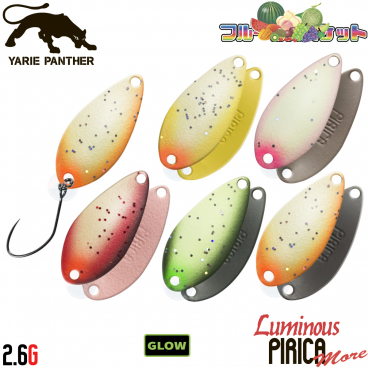 Yarie Pirica More Fruit 2.6 g 28 mm various colors trout spoon
