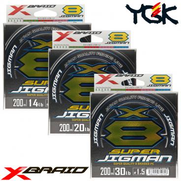 YGK X-BRAID SUPER JIGMAN X8 200 M PE LINE