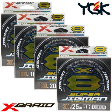 YGK X-BRAID SUPER JIGMAN X8 300 M PE LINE