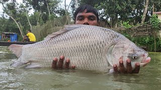 Catch a Lot of Fish With Cast Net  | Net Fishing in Pond