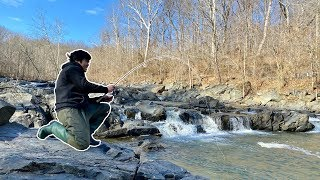 YOU WON'T BELIEVE WHAT I CAUGHT from this FREEZING RIVER!!! (Surprising)