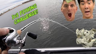 INTENSE 1v1 FISHING CHALLENGE for $1,000!!! (1Rod vs. Apbassing - The Rematch)