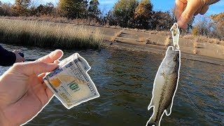 The $100 FISHING CHALLENGE!!! (Surprise Ending)