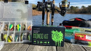 BIG BASS FISHING CHALLENGE!!! (ENTIRE Fishing Arsenal vs. Googan Squad MONDO KIT)