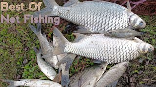 Best of cast net fishing - Traditional catching fish by beautiful woman (machhali)