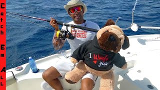 FISHING with a TEDDY BEAR! **Shark Week**