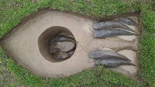 Easy Trap Fishing Methods | Amazing Unique Hole Fish Trap