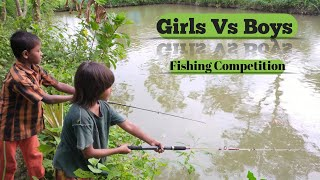 Fishing Competition Girls Vs Boys - Fishing By Hook