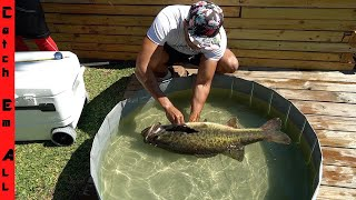 SHAMU FINALLY RETURNS! **MY BIGGEST FISH By WEIGHT in DOG POND!**