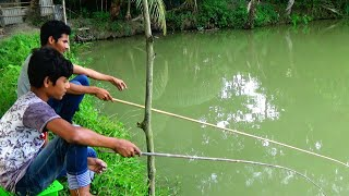 Traditional hook fishing - fishing by hook - fish video