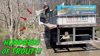 LUCKIEST FISHING DAY of my LIFE!!! (The Fish Gods Sent a TROUT TRUCK)
